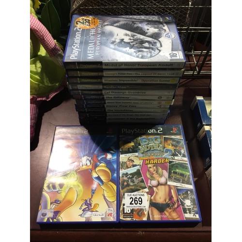 269 - Quantity of PS2 Games...