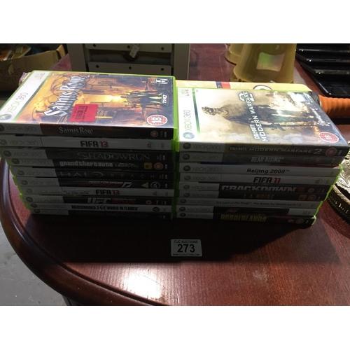 273 - Quantity of Xbox Games...