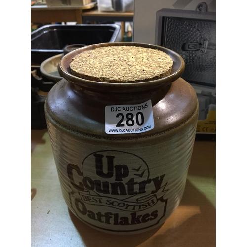 280 - Oatflakes Stoneware Jar...
