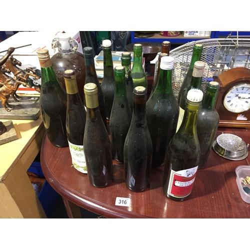 316 - Quantity of Home Made Wines, etc...