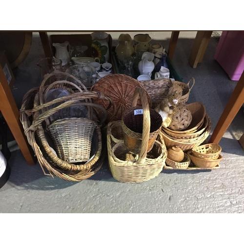 339 - Quantity of Wicker Baskets, etc...