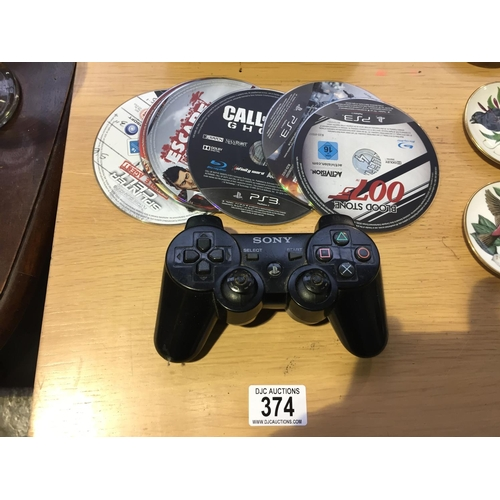 374 - PS3 Games & Controller...