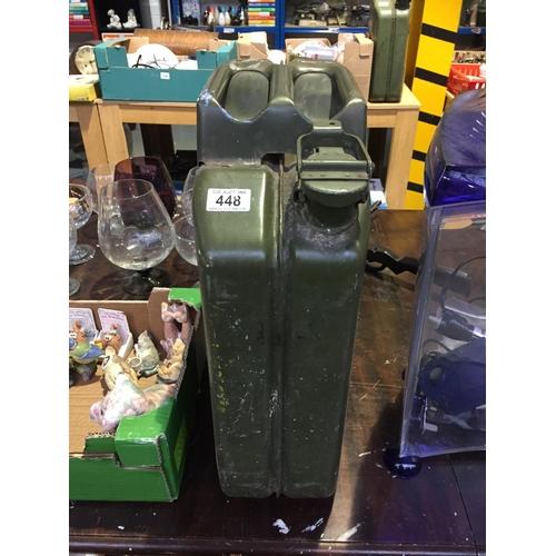 448 - 20L Metal Petrol Can...