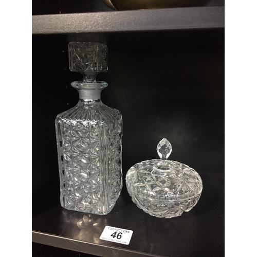 46 - 2 x Glass Crystal...