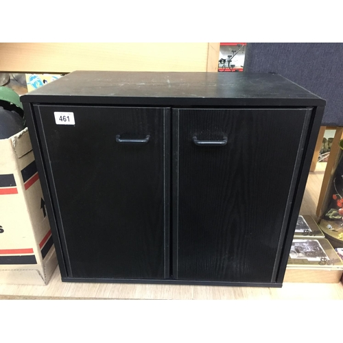 461 - Black Ash Storage Cupboard...