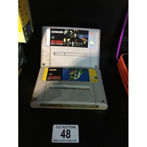 48 - 2 x Super Nintendo Games...