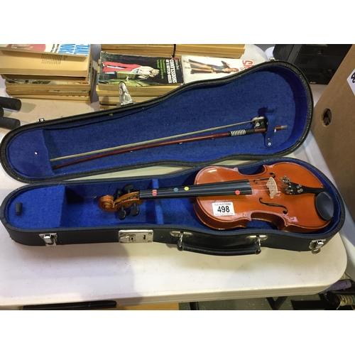 498 - Violin & Case...