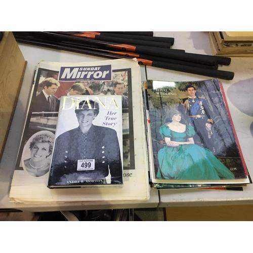 499 - Quantity of Diana & Charles Ephemera...