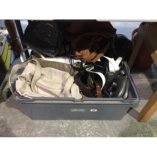 502 - Box of Handbags, etc...