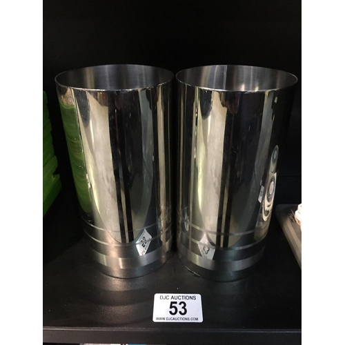 53 - 2 x Plated Knight Vases...
