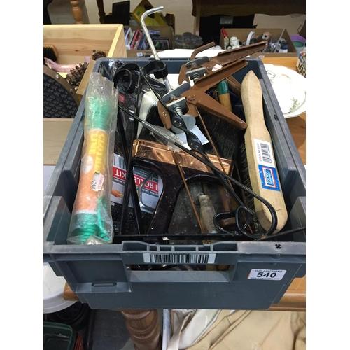 540 - Box of Tools, etc...