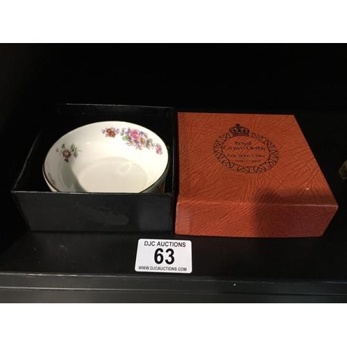 63 - Royal Crown Dish- Boxed...