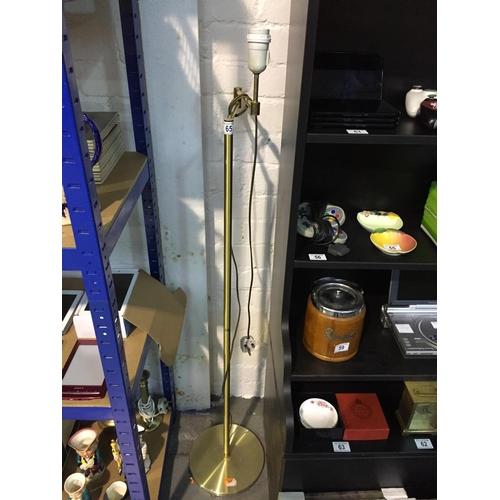 65 - Brass Floor Standing Lamp...