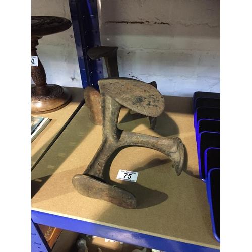 75 - 2 x Cast Shoe Lasts...