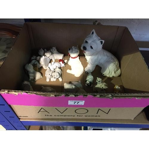77 - Box of Westie Dogs...