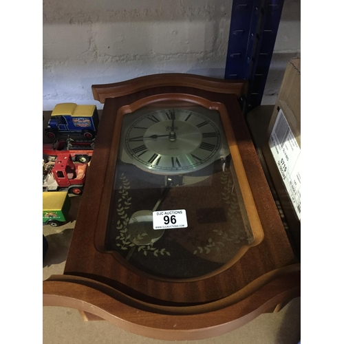 96 - Cased Wall Clock...