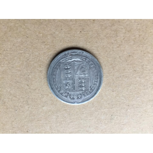 784 - Victorian One Shilling 1889...