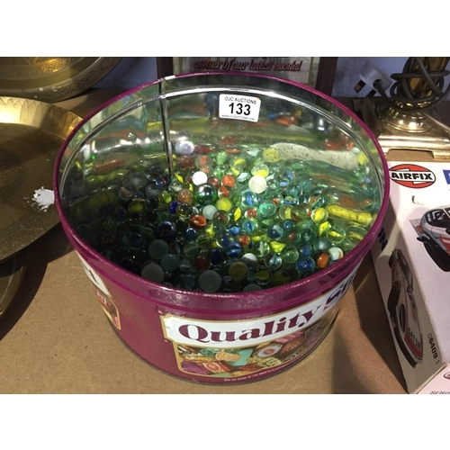133 - Tin of Vintage Marbles...