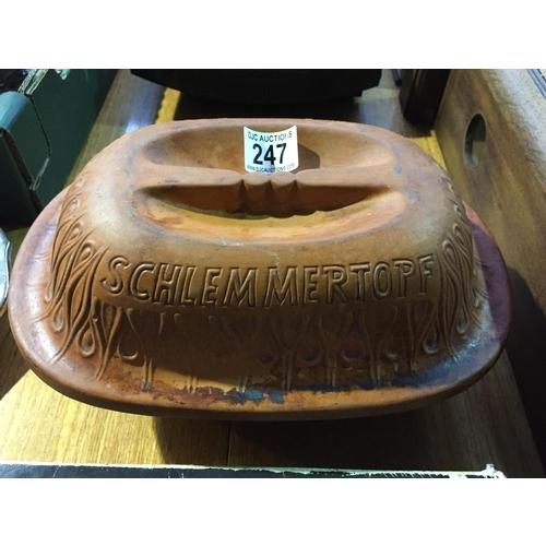 247 - West German Schlemmertopf Roasting Pot...