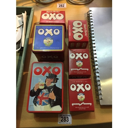 283 - OXO Tins/Boxes...