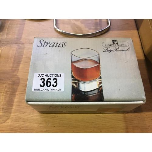 363 - Strauss Shot Glasses...