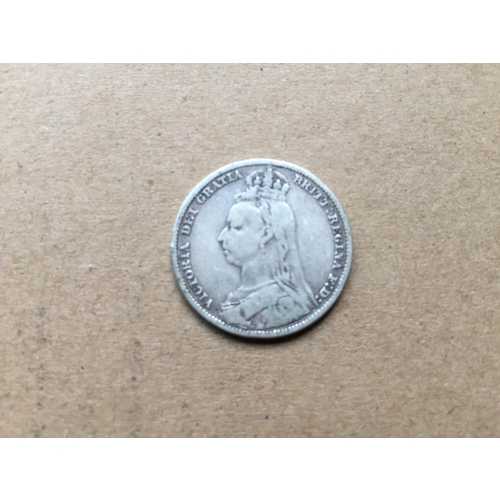 780 - Victorian One Shilling 1890...
