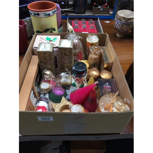 585 - Box of Christmas Candles...