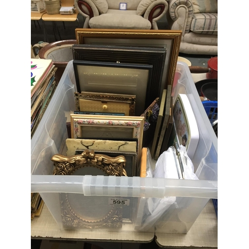 595 - Box of Picture Frames...