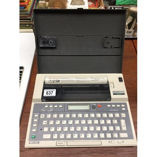 637 - Vintage Brother EP20 Typewriter Word Processor...
