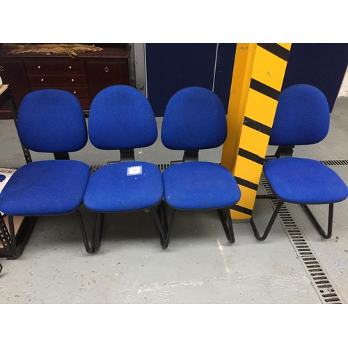 645 - 4 x Blue Office Chairs...