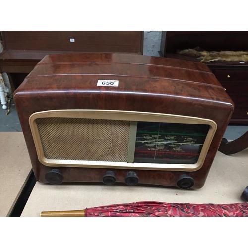 650 - Old Radio...