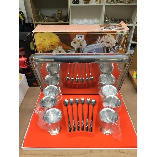 659 - Silver Plated Desert Set - New...