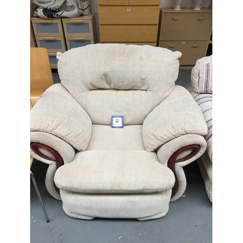 664 - Upholstered Armchair...