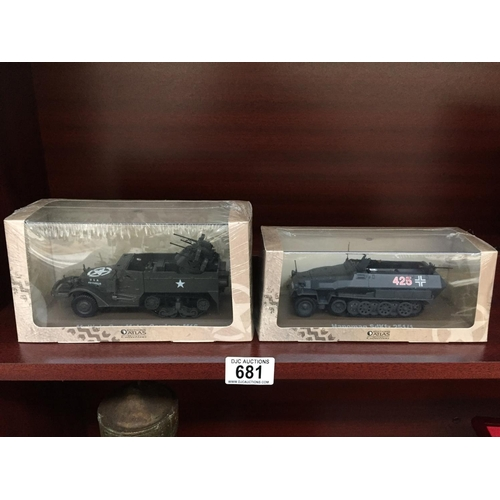 681 - 2 x Military Models - New...