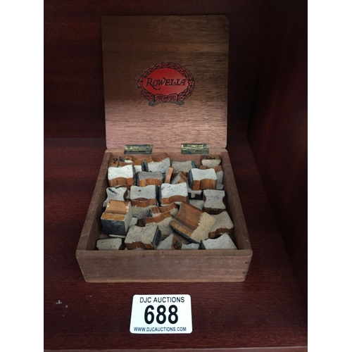 688 - Vintage Wooden Letter Blocks...