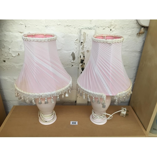 698 - 2 x Pink Lamps...