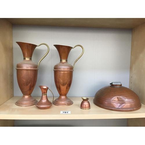 701 - Quantity of Copper Jugs, etc...