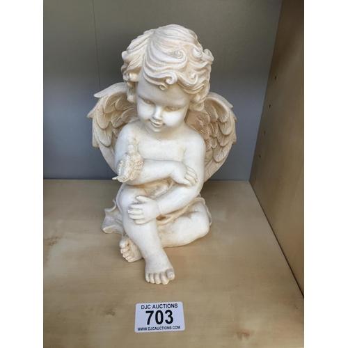 703 - Cherub Sculpture...