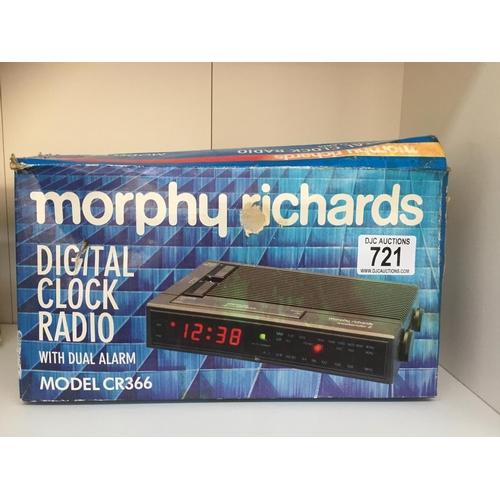 721 - Morphy Richards Retro Clock Radio...
