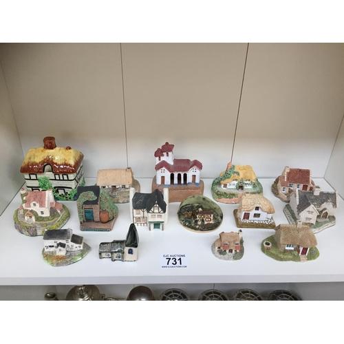 731 - Quantity of Ceramic Cottages...