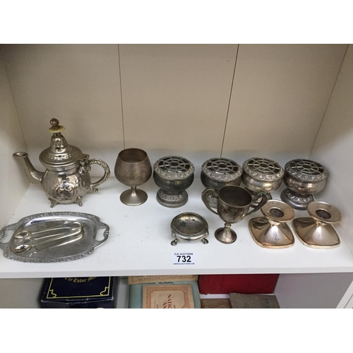 732 - Quantity of Silver Plate...