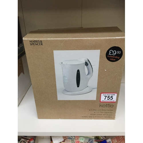 755 - Boxed Kettle - New...