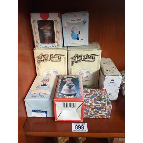 898 - Quantity of Boxed Ceramic Figures...
