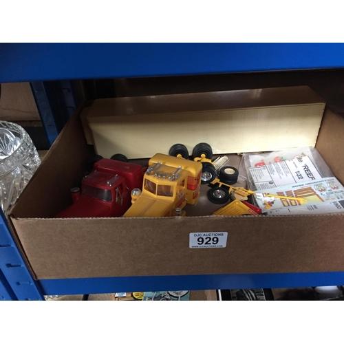 929 - Box of Toy Trucks...