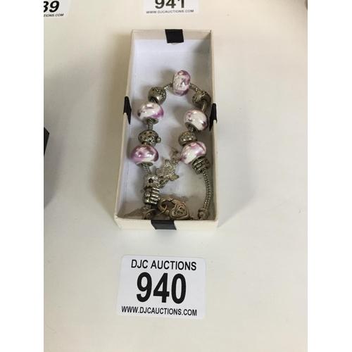 940 - Pandora style Bracelet...