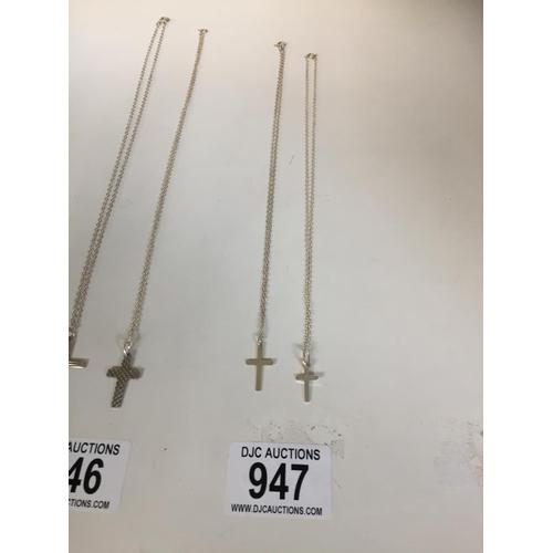 947 - 2 x Silver 925 Chain's & Pendants...
