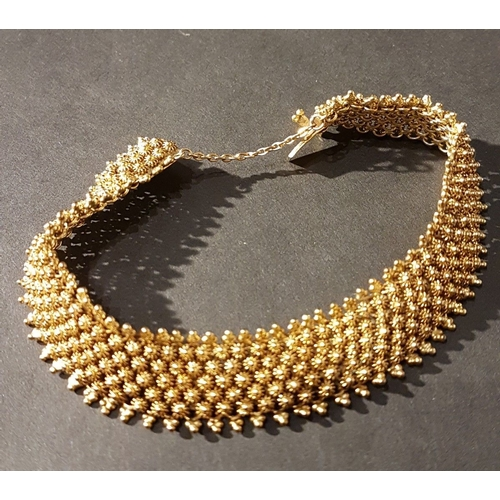 838 - 18ct Gold Intricate Early 20th Century Bracelet, Weight 26.3grams...