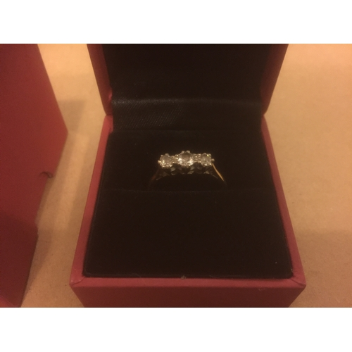 851 - 18ct Gold 0.85ct Diamond Ring from Ogdens of Harrogate...