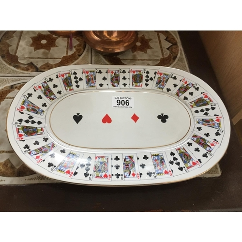 906 - Playing Cards Plate...