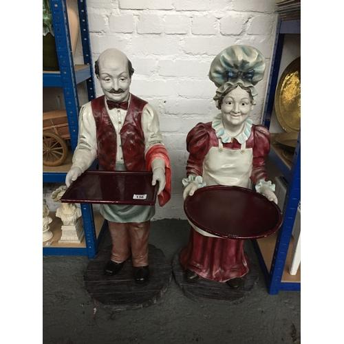136 - 2 x Vintage Large Dumb Waiters...